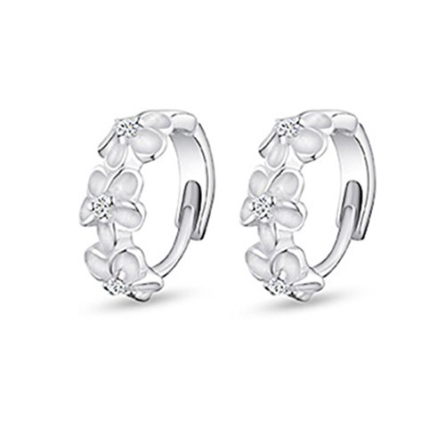 time-pawnshop-camellia-sterling-silver-simple-lady-hoop-earrings