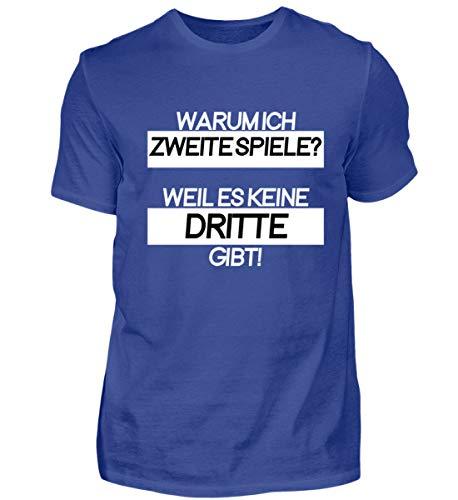 Warum Ich Zweite Spiele? Weil Es Keine Dritte Gibt! - Schlichtes Und Witziges Design - Herren Shirt -XL-Royalblau