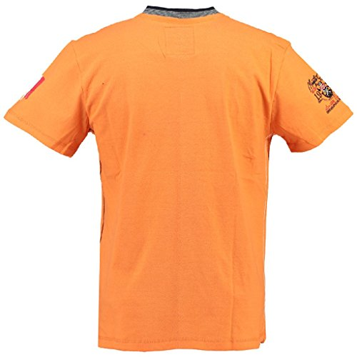 Geographical Norway V-Neck Herren T-Shirt JALIUM MEN Orange