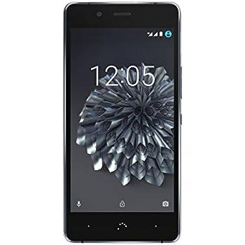 """BQ Aquaris X5 Plus - Smartphone de 5"""" (4 G, Qualcomm Snapdragon 652, memoria interna de 32 GB, 3 GB de RAM, WiFi, NFC, cámara de 16 MP) negro y gris antracita - (Reacondicionado Certificado por BQ)"""