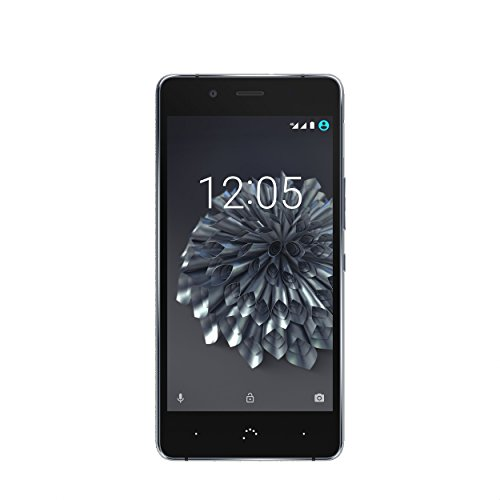 "BQ Aquaris X5 Plus - Smartphone de 5"" (WiFi, Bluetooth, Snapdragon 652, memoria interna de 16 GB, 2 GB RAM, cámara 16 MP, Android 6.0.1) negro y gris antracita - (Reacondicionado Certificado por BQ)"