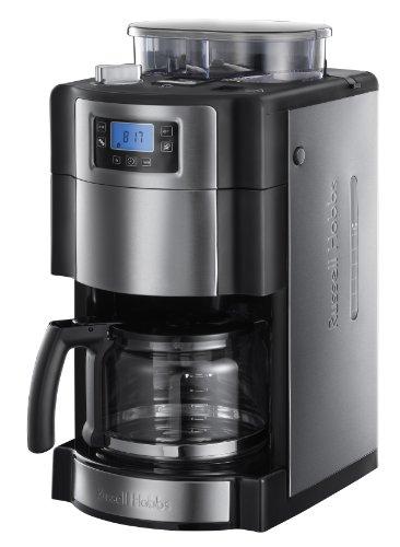 Buckingham Grind & Brew 20060-56 Digitale Glas-Kaffeemaschine mit integriertem Mahlwerk schwarz / silber