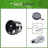 Belüftungs-Set Zuluft Grow Inline-Lüfter 150mm und Bugs Away Insektenschutz
