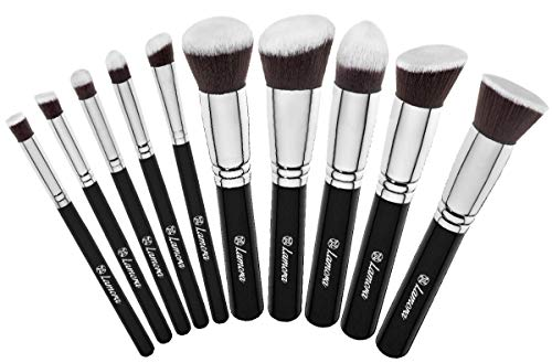 Set Pennelli Make Up Fondotinta Kabuki - Set Pennelli Trucco Professionali - Pennello Cipria Polveri Blush