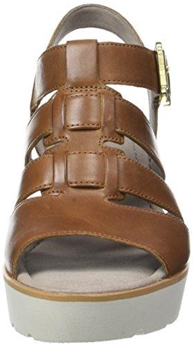 Gabor Fashion, Sandales Bout Ouvert Femme Marron (peanut 24)
