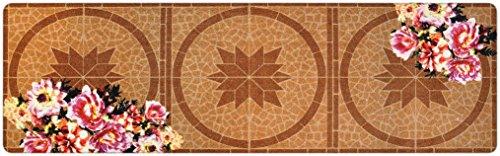 Hochwertiger Designer Teppich für Wohnzimmer, Kinderzimmer, Flur, Bad, Innen und Außen-Bereich | Rutschfester und waschbarer Teppich-Läufer – BRAUN BEIGE 80 x 250 cm