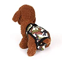 FHJZXDGHNXFGH-UK Dog Diaper Female Male Durable Doggie Diapers Pants Dog Wrap Panty Pet Underwear Briefs Shorts Sanitary Physiological Pants