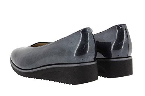 Chaussure femme confort en cuir Piesanto 9626 escarpin confortables amples Gris