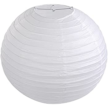 Lihao 16 round white paper lanterns lamp shade wedding decoration lihao 16 round white paper lanterns lamp shade wedding decoration 10 pieces mozeypictures Image collections