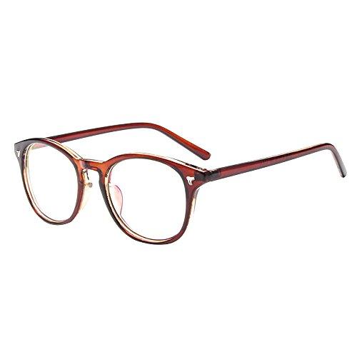 Forepin Unisex klare Linse Brille Augen Durchsichtig Gläser Wechselgläser Nerdbrille...