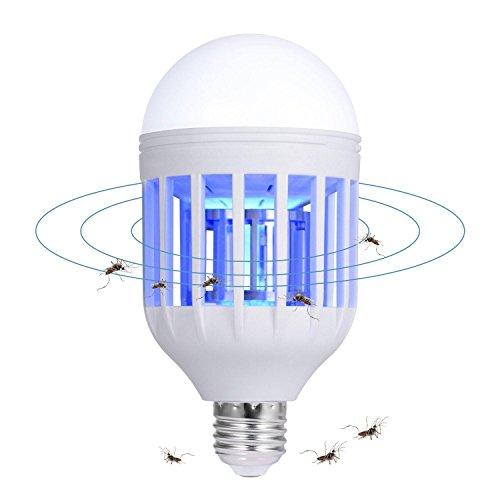 Teepao Bug Zapper Leuchtmittel 2in 1LED & Home antimoskitolampe–Elektronische Bug Zapper Outdoor Innen-Glühlampe mit Built in Mosquito Trap Anzug für Home Garten Veranda Terrasse Backyard