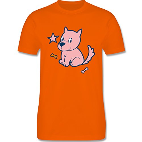Hunde - Hund - Herren Premium T-Shirt Orange