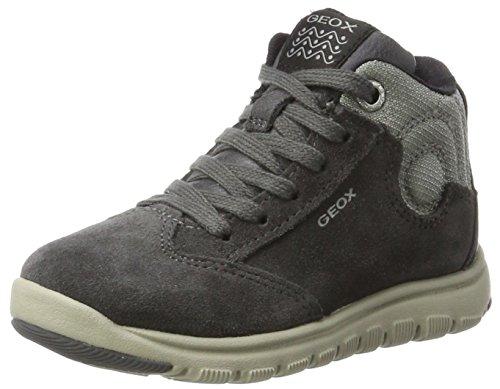Geox Jungen J Xunday Boy D Hohe Sneaker, Grau (Grey/Lt Grey), 35 EU (Boys Turnschuhe Wildleder)