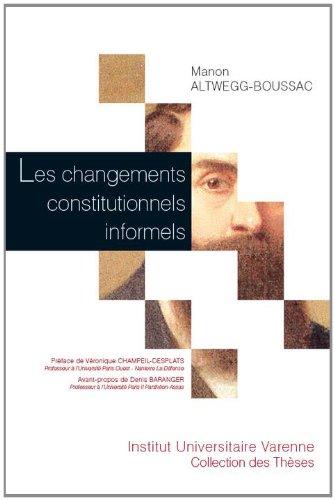 Les Changements constitutionnels informels