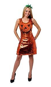 I Love Fancy Dress ilfd4006l Calabaza de Lentejuelas Vestido (Grande)