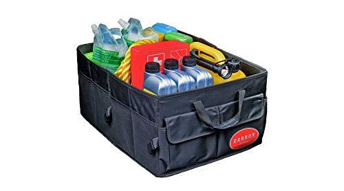 Carbox Supreme - Der Herr des Kofferraumes - Große Kofferraumtasche aus Polyester schwarz faltbar stabil - Autozubehör Tasche 53x38x25cm