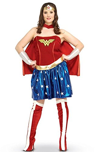 Generique - Wonder Woman-Kostüm für Damen Plus Size XXL (Wonder Plus Woman Kostüm Size)