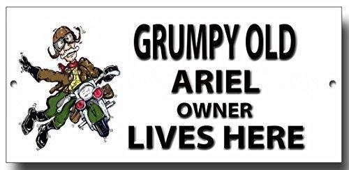 "Grumpy Old Ariel Eigentümer Lives Here "", Metall"