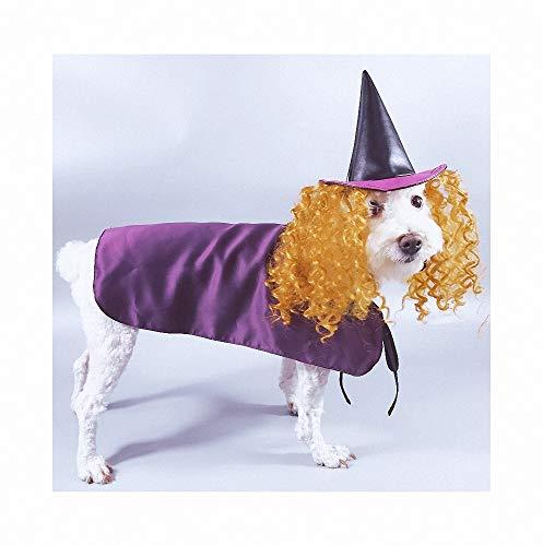 FZ FUTURE Haustierhexenumhang, Halloween Kostüm für Katze Hund, Haustier Halloween-Kostüm, Cosplay Dress Up, für Halloween Partys Feste-Größe Passend Weihnachten Special Events Kostüm,M (Passende Dress Up Kostüm)