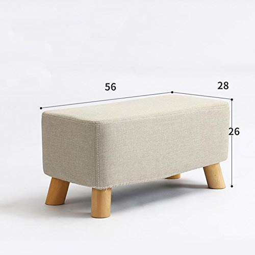 Schuh Bench (MOOMDDY Ersatzschuh-Bank Schuhe Bench Solid Wood Stool Fashion Creative Stool Tuch Sofa Stool Bank Test Shoes Stool Bank,White)
