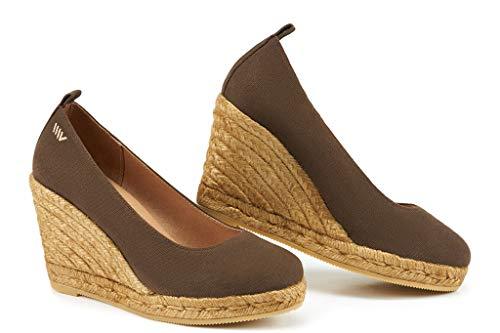 VISCATA Barcelona ,  Damen Espadrilles Lace Up Platform Sandal