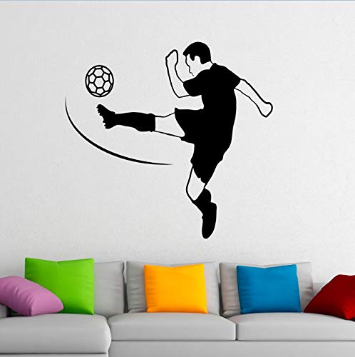 sanzangtang Fußball Vinyl Wandbilder Fußball Spieler Wandaufkleber Home Interior Wandaufkleber Sport Fußball Vinyl Aufkleber50.4cmX48cm -