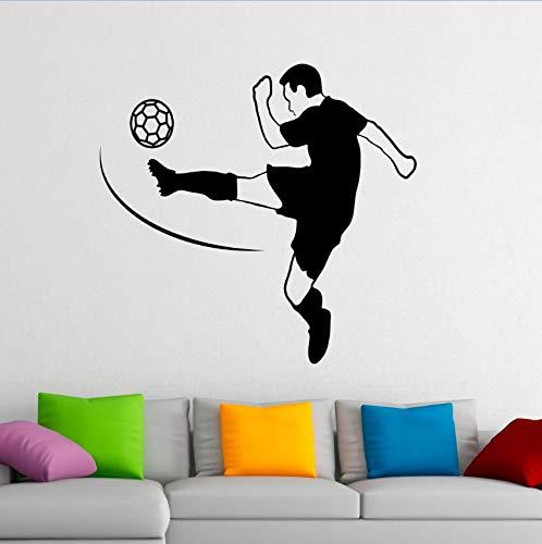 yiyiyaya Fußball Vinyl Wandkunst Wand Fußball Spieler Wandtattoo Removable Home Interior Wandaufkleber Sport Fußball Vinyl Aufkleber 42x40 cm -