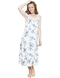 Cyberjammies 1219 Women s Nora Rose White Floral Night Gown Loungewear  Nightdress 9a0dae10e