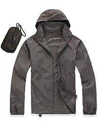 Ocamo Men Women Quick Dry Hiking Jacket Waterproof UPF30 Sun & UV Protection Coat Outdoor Sport Skin Camping Clothing