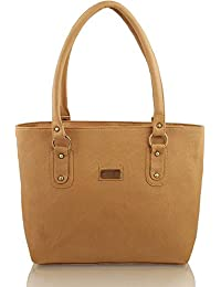 Flora Premium PU Leather Women's Handbag (Light Brown Color)