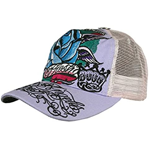 L.A. FRESH® Unisex Disenador Trucker Tapa Cap - WINGED ROSE -