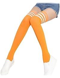 16dbbbcac63 Doitsa 1 Paire Printemps et automne Bas Chaussettes à tube haut Chaussettes  longues en coton Chaussettes de football Chaussettes…