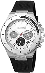 Just Cavalli Sport Men's Silver Dial Silicone Analog Watch - JC1G139P
