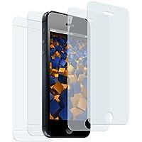 2+2 x mumbi Displayschutzfolie für iPhone SE 5S 5 5C Schutzfolie Folie (2 x VORNE und 2 x RÜCK Folie)