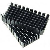 chengyida 15-Pack disipador de calor 50* 25* 10mm IC disipador de calor de aluminio de refrigeración Fin 50x 25x 10mm