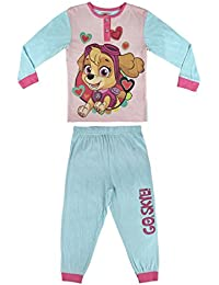 Pijama niña Paw Patrol celeste y rosa dos piezas
