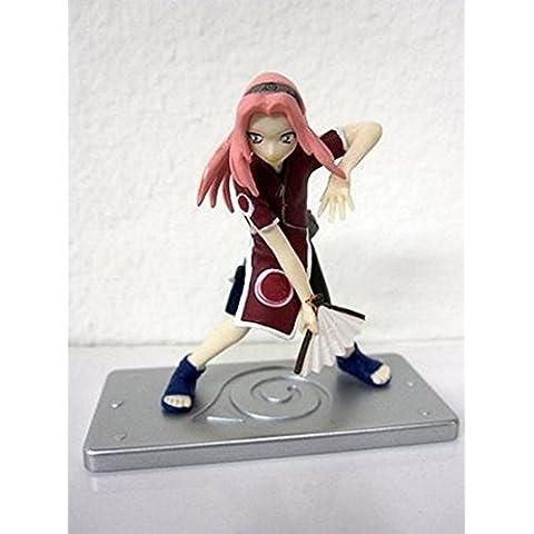 Naruto Figure w/ Hidden Leaf Display Base-Sakura Holding Fan