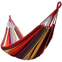 Lcyy-swing Portátil 2 Persona al Aire Libre Camping jardín Playa Viaje Lona Hamaca