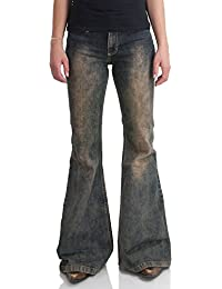 Stretch Jeans Schlaghose Dirty Look Star Rebel