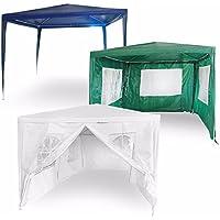 Estexo® Pavillon Festzelt Bierzelt Partyzelt Gartenzelt Zelt Pavillion Pavilion (300x300x240cm Ohne Seitenwände, Weiß)
