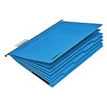 Falken Project_Folder_Personal_Multiple_Hanger_Folder Divided 5-fold Hefter Blue