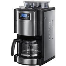 Russell Hobbs 20060-56 Buckingham Grind & Brew - Cafetera de filtro con molinillo de café, control digital con LCD, depósito de café en grano para 250 gr