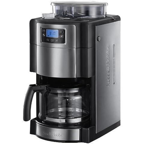 Russell Hobbs 20060-56 Buckingham Grind & Brew - Cafetera de filtro, control digital con LCD, depósito de café en grano para 250 gr