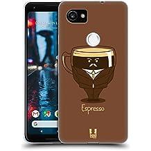 Head Case Designs Espresso Personalità Del Caffè Cover Morbida In Gel Per Google Pixel 2 XL