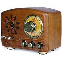 Retro Radio portátil FM/Am de Banda Dual de Madera Maciza de Radio Recargables de Bluetooth