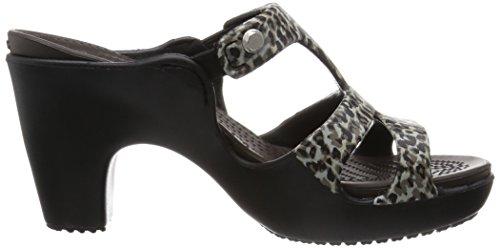 Crocs Cyprus V Leopard Print Heel W Zoccoli, Donna Multicolore (Leopard)