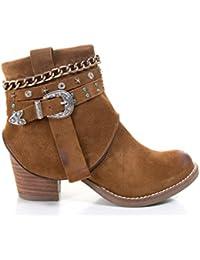 e2a3dfaa9f Amazon.es: Piel - Botas / Zapatos para mujer: Zapatos y complementos
