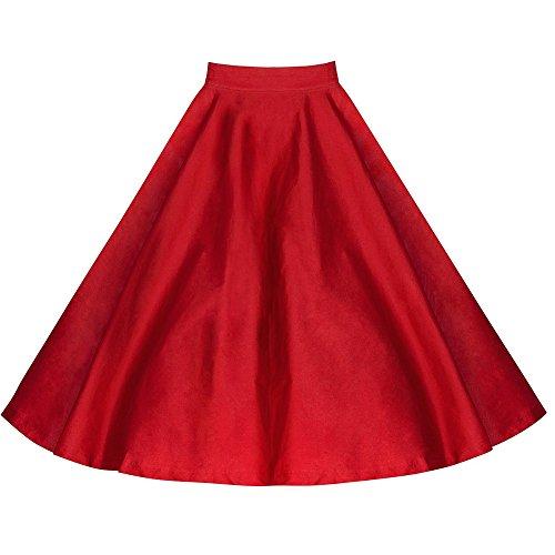 WintCO Femmes De base Rétro Jupe pliante Taille haute Impression de la robe plissée Mini Skater Skirt Rouge et pot