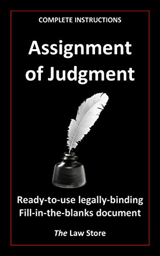 Assignment of Judgment (with instructions) (English Edition)
