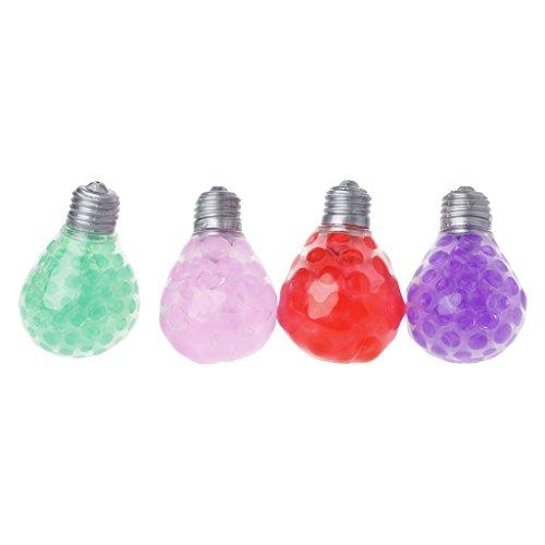 Senoow Gummi Trauben Ball Kristall Birne Handgelenk Squeeze Spielzeug Stressabbau Gadget - Squeeze-birne